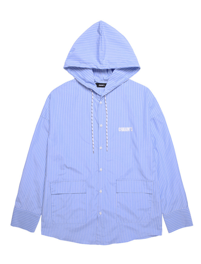 POCKET SHIRTS HOOD_BL
