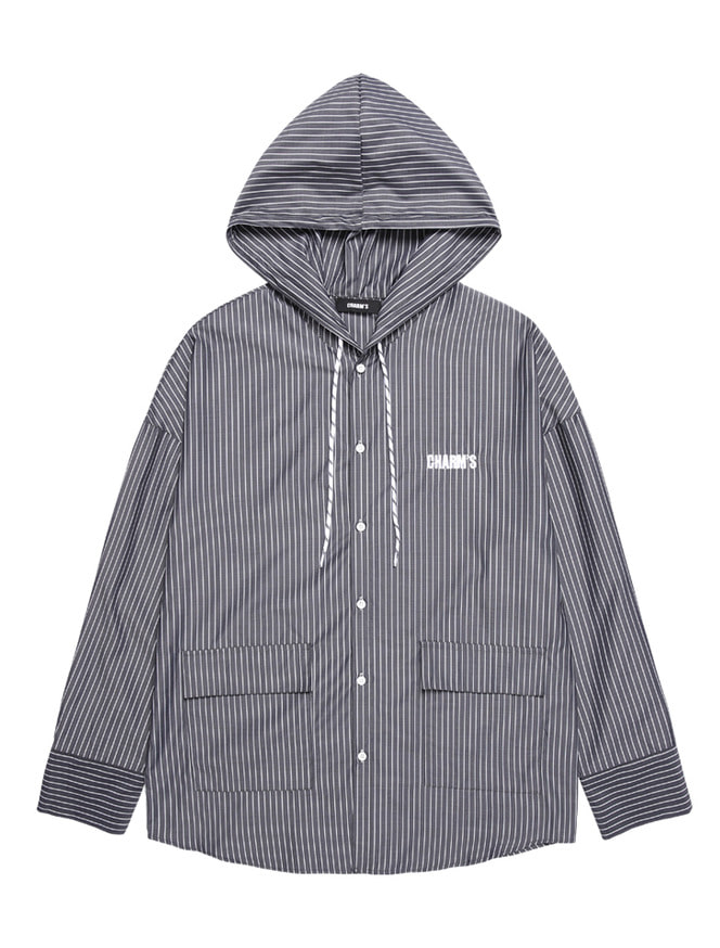 POCKET SHIRTS HOOD_BK
