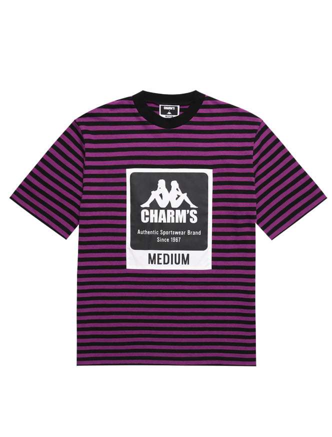CHARM'S X KAPPA STRIPE LABEL SHOTSLEEVED T_PU