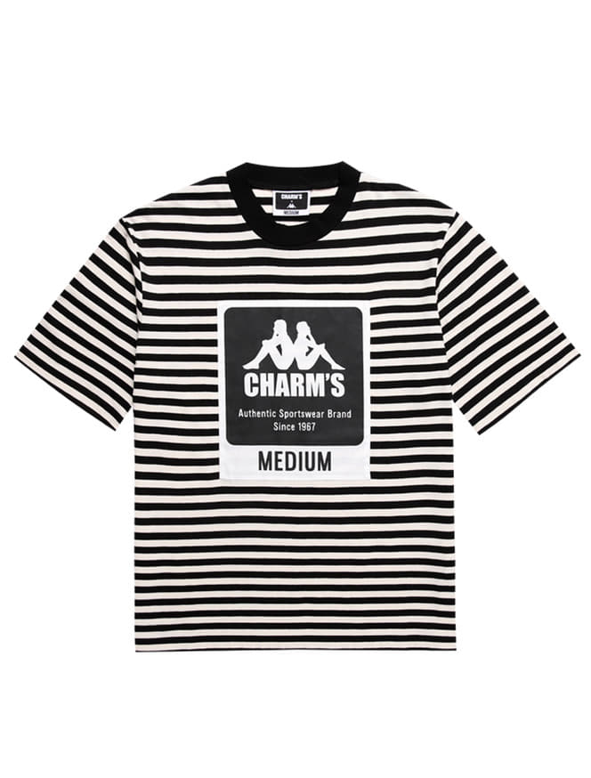 CHARM'S X KAPPA STRIPE LABEL SHOTSLEEVED T_BK