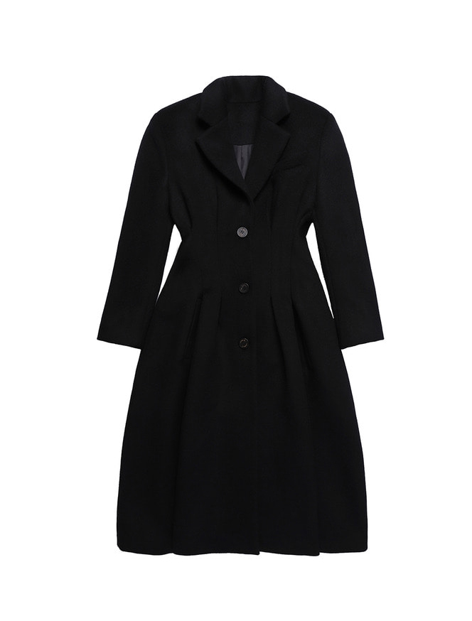 PLEATS COAT / BK
